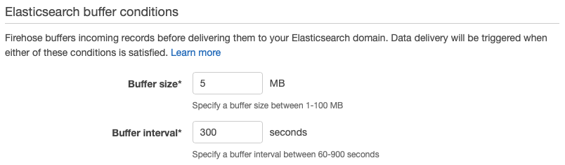 Elasticsearch buffer conditions